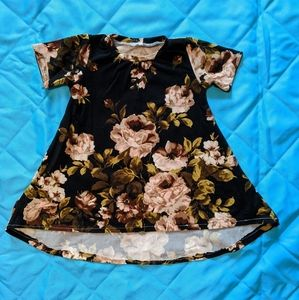12-18 month black and tan floral dress